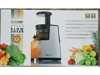 BRAND NEW BIOCHEF Atlas SLOW / MASTICATING Living Juicer RED 150W Whole Cold Juicer