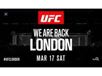 2 UFC London Tickets O2 17th March