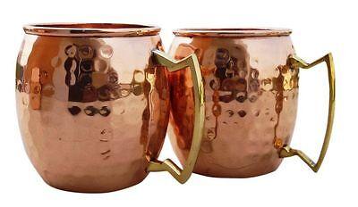 Handgemachte reine Kupfer gehämmert Moscow Mule Becher, Set mit 2 Tassen