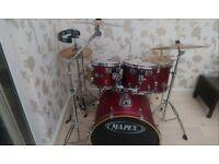 Mapex Cherry Red V Series Drum Kit