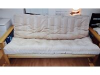 BEIGE SOFA BED IN VERY GOOD CONDITION (PICK UP ONLY)