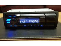 CAR HEAD UNIT SONY A50BT MP3 PLAYER WITH BLUETOOTH USB AUX SUBWOOFER OUT AMP STEREO RADIO BT