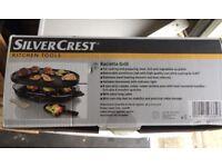 Unused SilverCrest Raclette grill in original box