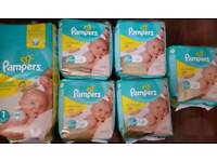 Pampers size 1 nappies