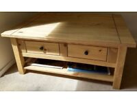 Coffee Table/ Side Table Quality pine practically new (100cm x 75cm x 45cm) in Maidstone, Kent