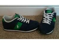 Original Ralph Lauren Trainers (Juniors Size 2.5) Immaculate Condition FREE DELIVRY