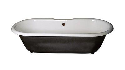Primed Black Cast Iron Clawfoot Tub FEET NOT INCLUDED | Renovator's Supply (Black Tub)