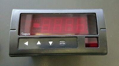Simpson H335-1-71-1-2-0 Digital Panel Meter 120VAC 2 Relay