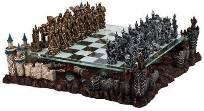 CHH Fantasy Good vs. Evil 3D Theme Chess Board Strategy Game Set NEW