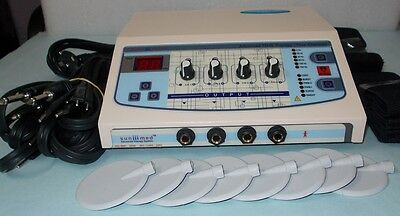 New Professional Home Use 4 Channel Electrotherapy Machine Pulse Massager Ujhk