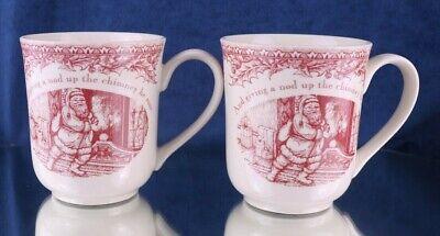 Johnson Brothers Christmas - Johnson Brothers Twas the Night Before Christmas Coffee Mugs Set of 2