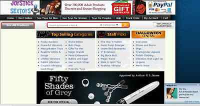 Fully Functional Turnkey Adult Toys Lingerie Website Business Drop Shipping