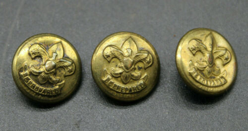 Lot of 4 Vintage Cubs BSA Boy Scout Buttons, Old, Collectible Vtg (R3D2)