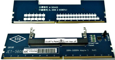 JET-5608AK - (DDR4 SODIMM to DIMM Adapter w/ Metal Guide)