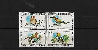 CYPRUS: TURKISH SG140/3, 1983 BIRDS MNH
