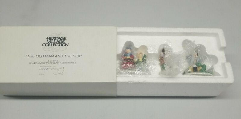 Dept 56 New England Village The Old Man and the Sea Apple Barrels #56553
