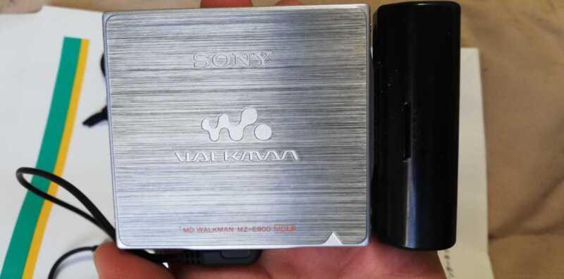Sony MD Walkman Mz-E900 Mdlp Corresponds Portable Player Silver