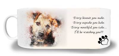"Lakeland Terrier Dog Ceramic Mug with the caption ""I'll be watching you"""