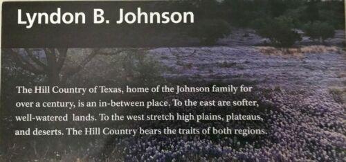 New LYNDON B JOHNSON NHP - Texas    NATIONAL PARK SERVICE UNIGRID BROCHURE  Map