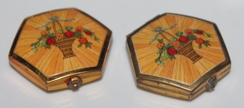 Vintage Compacts Lot of Two Houbigant Very Nice