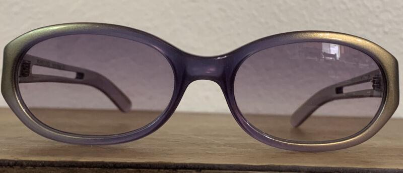 Romeo Gigli 90's Sunglasses! Purple And Gold!
