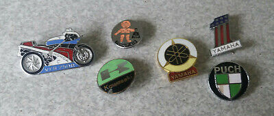 COLLECTION OF VINTAGE / RETRO MOTORCYCLE / MOTORBIKE BADGES -KAWASAKI-PUCH ETC