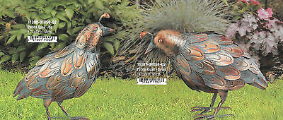 Small Bird Statuary - PATINA QUAIL SET OF 2 UP & DOWN - REGAL ART & GIFT 10307-8