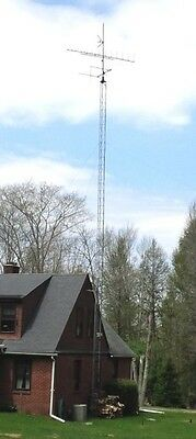 Antenna tower with motorized antenna - HAM Radio or TV - approx. 50 feet tall