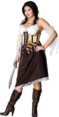 Maiden of the Seas Full Figure Pirate Plus Size Adult Costume (Name Of Halloween Costumes)