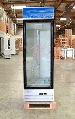 New 80 Glass Door Refrigerator Merchandiser Display Cooler Cabinet Nsf Etl