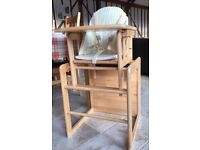 Wooden High Chair - East Coast Combination / Kid's Table & Chair