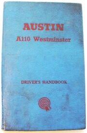 AUSTIN A110 WESTMINSTER ~ OWNER'S HANDBOOK
