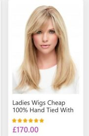 Brand new human hair wig collect leven natural blonde