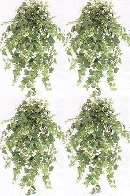 4 Ivy Bush Artificial Plant Silk 40 Arrangement Flower Floral Palm Tree Hanging