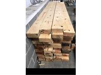 """Timber beams/joists 9ft x 7"""" x 3"""""""