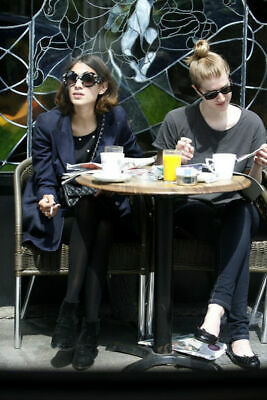 Prada Minimal Baroque rococo black oversized round retro sunglasses Alexa Chung