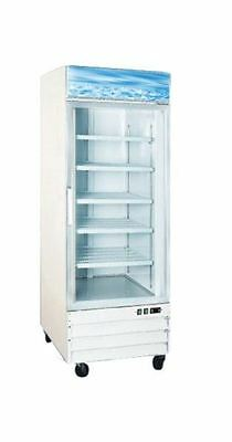Omcan Fr-cn-0790 23cf 1-door Commercial 31 Glass Ice Cream Display Freezer New