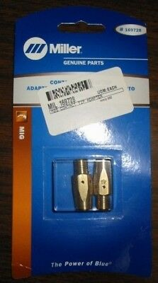 Miller Genuine Contact Tip Adapter For Millermatic 212 252 - Qty 2 - 169728
