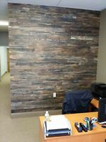 RUSTIC ACCENT WALL PALLET SKID WOOD