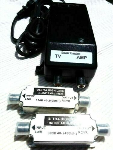 60dB ULTRA EXTREME TV ANTENNA PRE-AMPLIFIER & SIGNAL BOOSTER