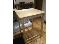 BAR TOP TABLE 70 X 70 cm square, birch wood