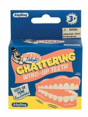 CHATTERING TEETH wind up toy dentures retro classic Novelty Gag Gift