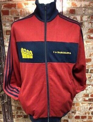 adidas I Love Barcelona  2006 Track Jacket Marron & Navy Size Extra Large