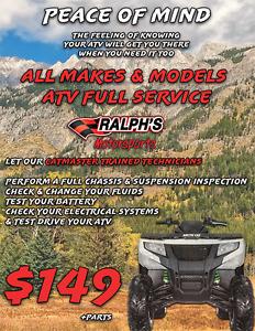 ATV Full Service - Any Make Any Model - Just $149