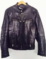 "Leather Motocycle Jacket * (Unisex) * Manteau en cuir ""Biker"""