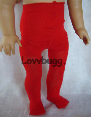"""Lovvbugg Red Tights for 18"""" American Girl Doll Clothes Tights Accessory"""