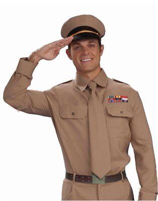 Army General Soldier Hat Tan War Vietnam Ww2 Ww1 Military Costume