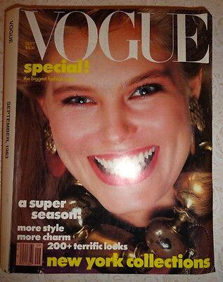 Vintage Vogue 9/1983 Renee Simonsen Irving Penn Helmut Newton Brooke Shields