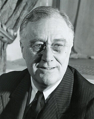 32nd US President FRANKLIN D ROOSEVELT FDR Glossy 8x10 Photo Print Poster