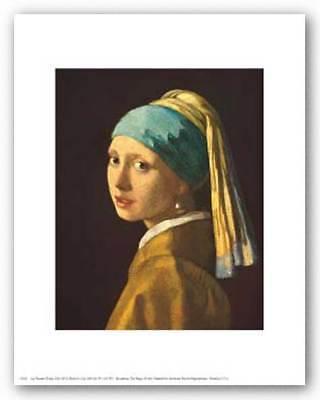 Jan Vermeer Girl (Head of a Girl Jan Vermeer Art Print)